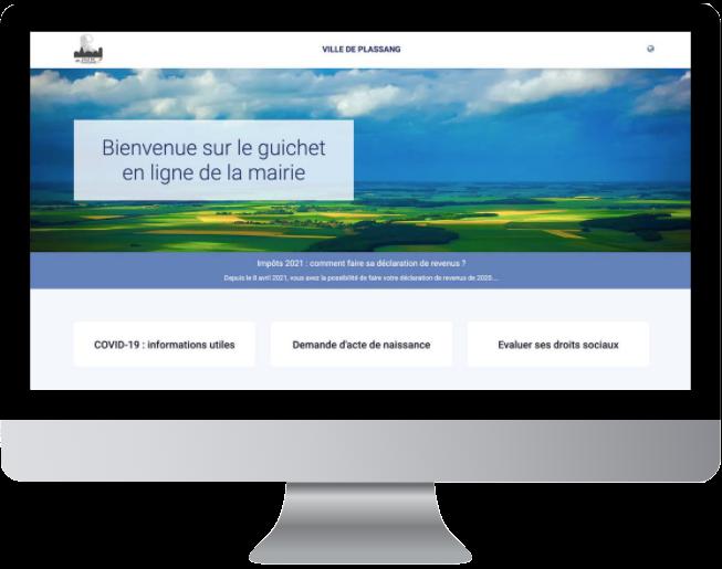 Page d'accueil - desktop